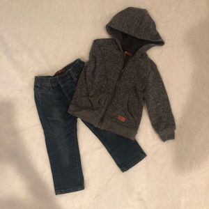 7 for all mankind jean and sweatshirt set